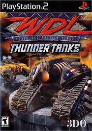 Box cover for World Destruction League: Thunder Tanks on the Sony Playstation 2.