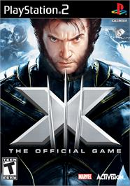 Box cover for X-Men: The Official Game on the Sony Playstation 2.