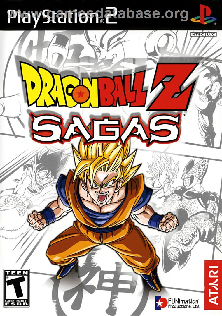 Box cover for Dragonball Z: Sagas on the Sony Playstation 2.
