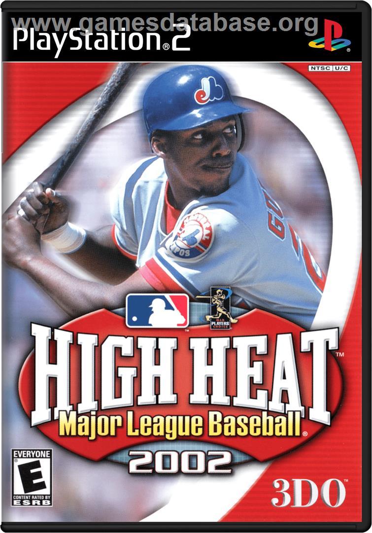 Box cover for High Heat Major League Baseball 2002 on the Sony