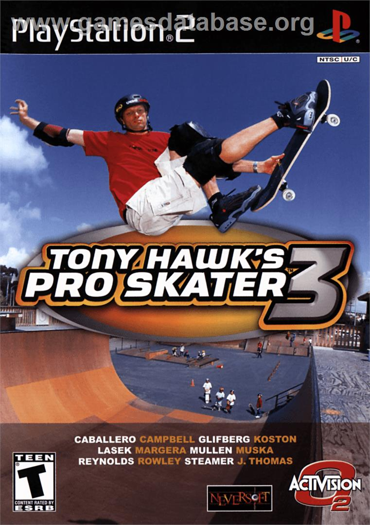 Tony Hawk's Pro Skater 3 - Sony Playstation 2 - Artwork - Box