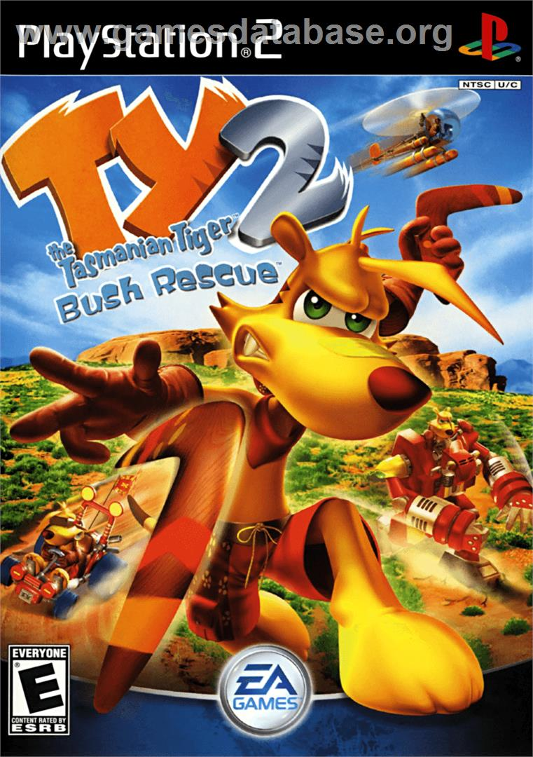 Ty the Tasmanian Tiger 2: Bush Rescue - Sony Playstation 2 - Artwork - Box