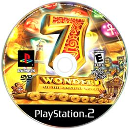 Artwork on the CD for 7 Wonders of the Ancient World on the Sony Playstation 2.