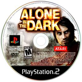 Artwork on the CD for Alone in the Dark: The New Nightmare on the Sony Playstation 2.