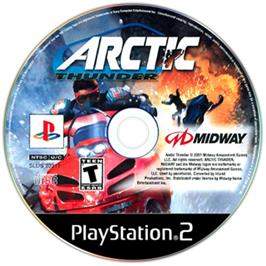 Artwork on the CD for Arctic Thunder on the Sony Playstation 2.