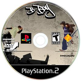 Artwork on the CD for B-Boy on the Sony Playstation 2.