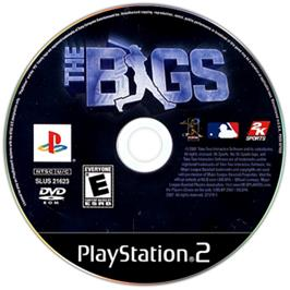 Artwork on the CD for BIGS on the Sony Playstation 2.