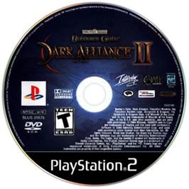 Artwork on the CD for Baldur's Gate: Dark Alliance 2 on the Sony Playstation 2.