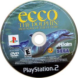 Artwork on the CD for Ecco the Dolphin: Defender of the Future on the Sony Playstation 2.