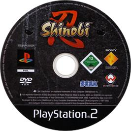 Artwork on the CD for Shinobi on the Sony Playstation 2.