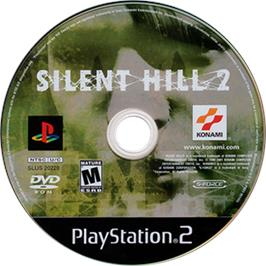 Artwork on the CD for Silent Hill 2: Restless Dreams on the Sony Playstation 2.