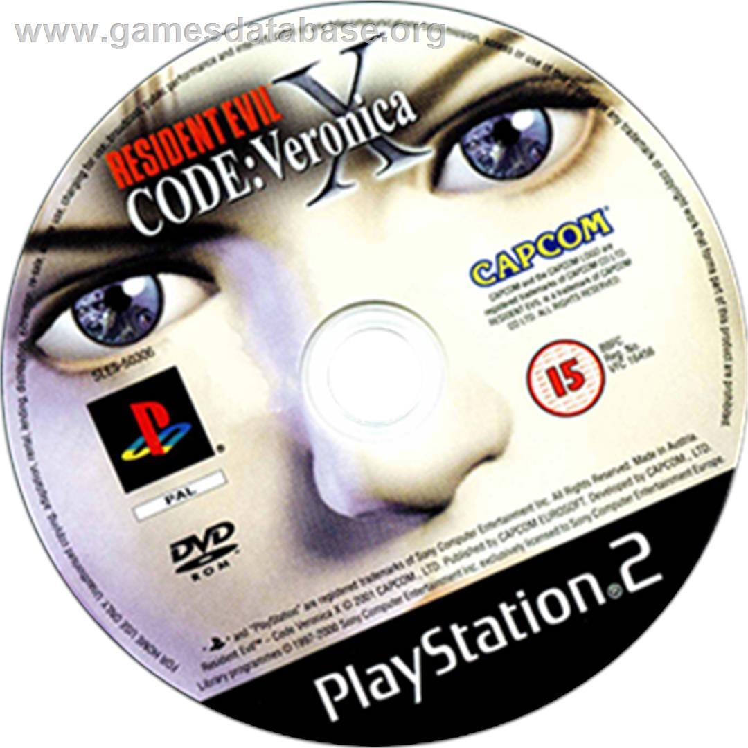 Resident Evil: Code: Veronica X - Sony Playstation 2 - Artwork - CD