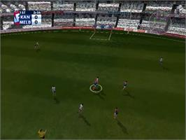 In game image of AFL Live Premiership Edition on the Sony Playstation 2.