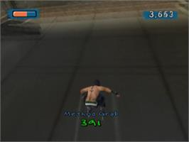 In game image of Aggressive Inline on the Sony Playstation 2.