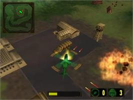 In game image of Army Men: Air Attack 2 on the Sony Playstation 2.