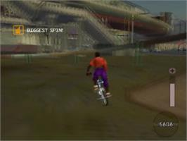In game image of BMX XXX on the Sony Playstation 2.
