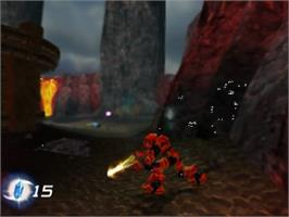 In game image of Bionicle on the Sony Playstation 2.