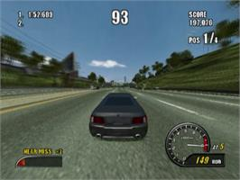 In game image of Burnout 2: Point of Impact on the Sony Playstation 2.