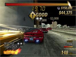 In game image of Burnout Revenge on the Sony Playstation 2.