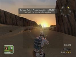 In game image of Conflict: Desert Storm on the Sony Playstation 2.
