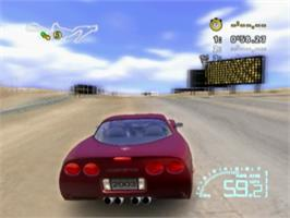 In game image of Corvette on the Sony Playstation 2.