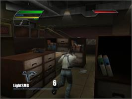 In game image of Dead to Rights 2 on the Sony Playstation 2.