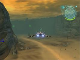 In game image of Defender on the Sony Playstation 2.