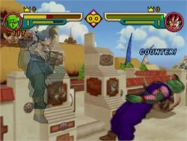 In game image of Dragonball Z: Budokai 2 on the Sony Playstation 2.