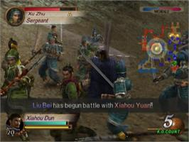 In game image of Dynasty Warriors 3 on the Sony Playstation 2.