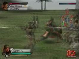 In game image of Dynasty Warriors 4 on the Sony Playstation 2.