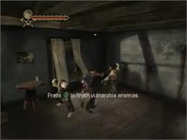 In game image of Evil Dead: Regeneration on the Sony Playstation 2.