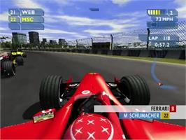 In game image of F1 Career Challenge on the Sony Playstation 2.