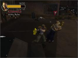 In game image of Final Fight: Streetwise on the Sony Playstation 2.