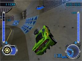 In game image of Hot Wheels: Velocity X on the Sony Playstation 2.