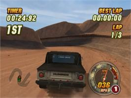 In game image of Hummer: Badlands on the Sony Playstation 2.