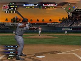 In game image of MLB SlugFest 20-03 on the Sony Playstation 2.