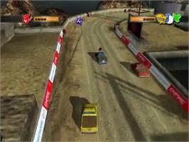 In game image of Mashed: Drive to Survive on the Sony Playstation 2.