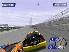 In game image of NASCAR Heat 2002 on the Sony Playstation 2.