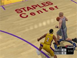 In game image of NBA 2K3 on the Sony Playstation 2.