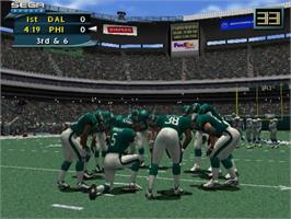In game image of NFL 2K2 on the Sony Playstation 2.