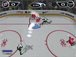 In game image of NHL Hitz 20-02 on the Sony Playstation 2.