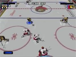 In game image of NHL Hitz 20-03 on the Sony Playstation 2.
