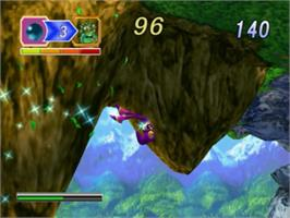 In game image of NiGHTS into Dreams... on the Sony Playstation 2.