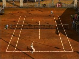 In game image of Outlaw Tennis on the Sony Playstation 2.