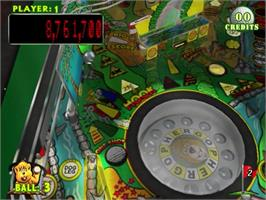 In game image of Pinball Hall of Fame: The Gottlieb Collection on the Sony Playstation 2.