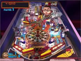 In game image of Pinball Hall of Fame: The Williams Collection on the Sony Playstation 2.
