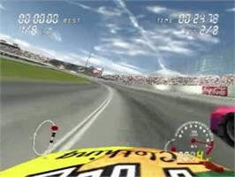 In game image of Pro Race Driver on the Sony Playstation 2.
