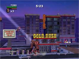 In game image of Rampage: Total Destruction on the Sony Playstation 2.