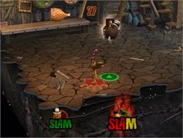 In game image of Shrek SuperSlam on the Sony Playstation 2.