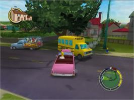 In game image of Simpsons: Hit & Run on the Sony Playstation 2.